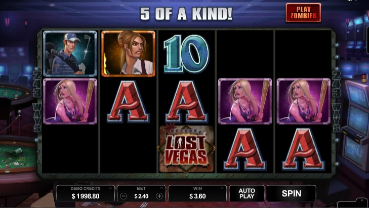 Lost vegas slot screenshot