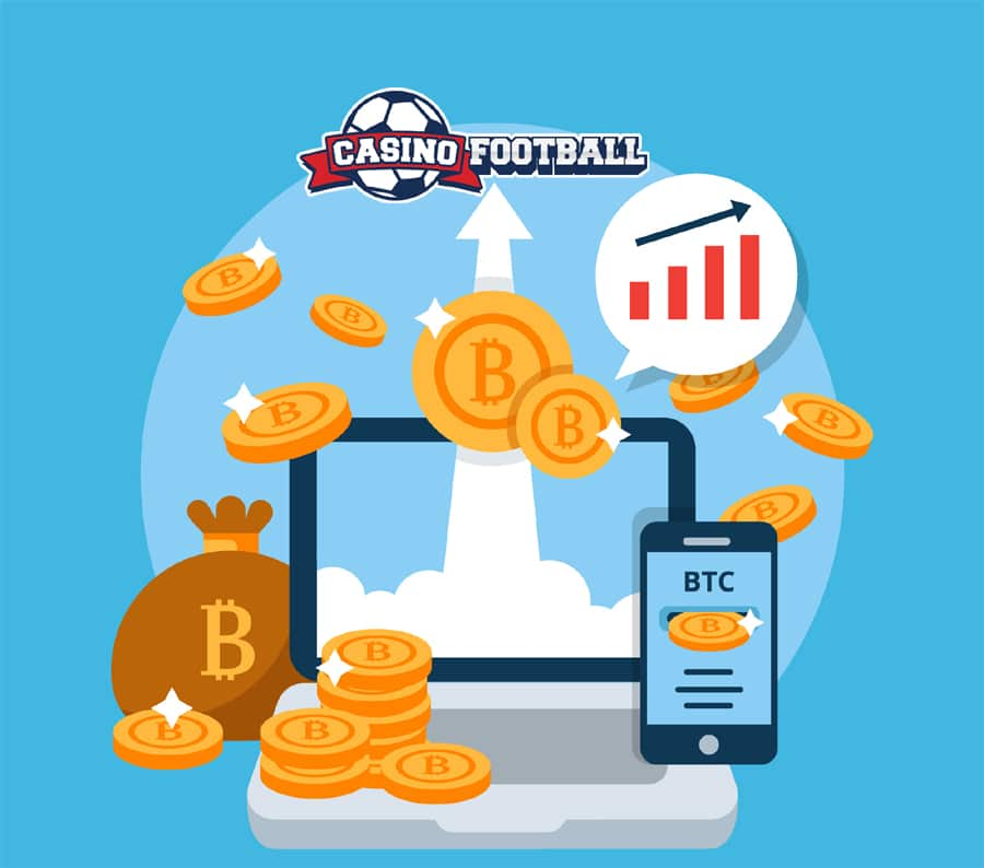 Casino Football take Bitcoin Image