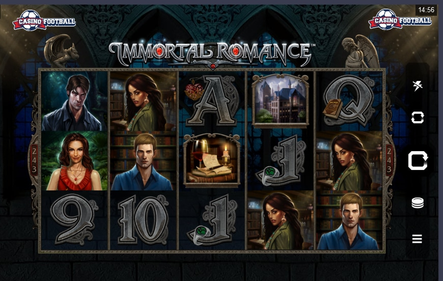 Immortal Romance Slot Game Screen